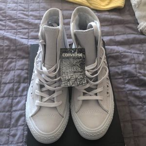 Converse all star suede woven sneakers